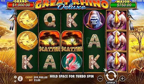 Main Gratis Slot Indonesia - Great Rhino Deluxe (Pragmatic Play)