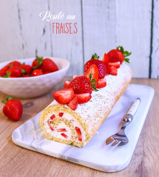 gateau roulé fraises