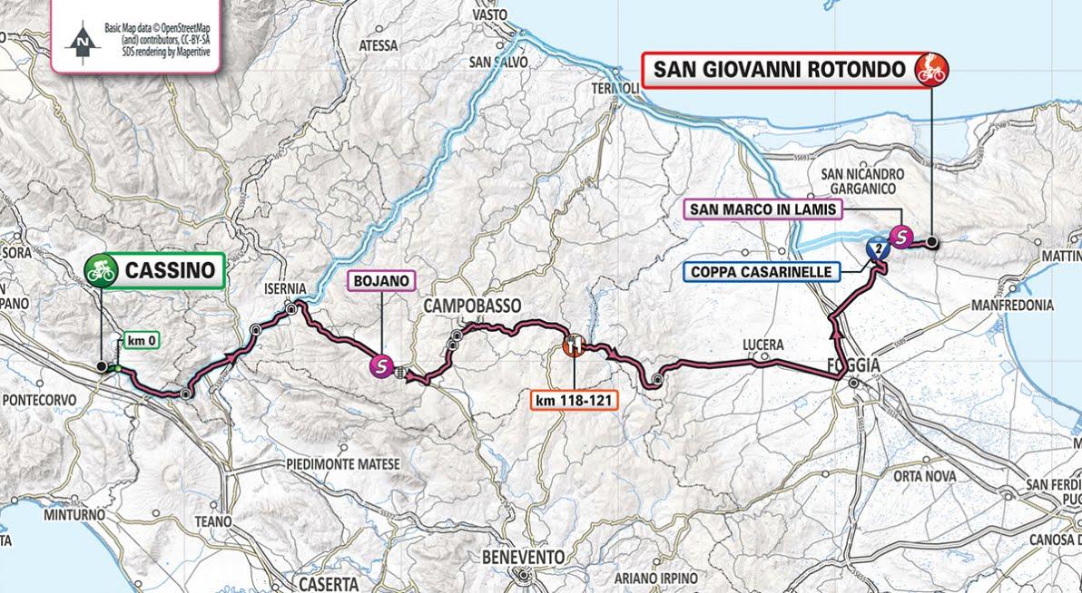 GIRO D'ITALIA 2019 Streaming Cassino San Giovanni Rotondo: 6° Tappa Oggi 16 maggio in Diretta Rai