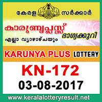kl result yesterday,lottery results, lotteries results, keralalotteries, kerala lottery, keralalotteryresult, kerala lottery result, kerala lottery result live,   kerala lottery results, kerala lottery today, kerala lottery result today, kerala lottery results today, today kerala lottery result, kerala lottery result   3.8.2017 karunya-plus lottery kn 172, karunya plus lottery, karunya plus lottery today result, karunya plus lottery result yesterday, karunyaplus lottery   kn172, karunya plus lottery 3.8.2017