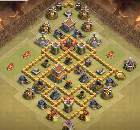clash of clans town hall 6 layout