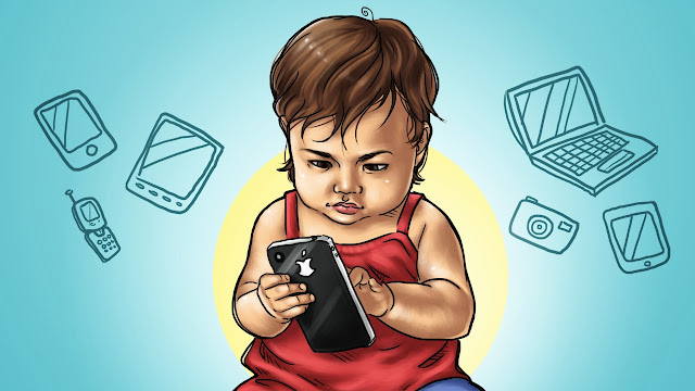 10 Tips Untuk Mengelakkan Anak Kecil Ketagih Gajet Elektronik