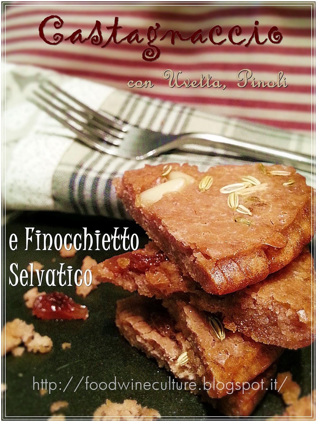 Castagnaccio con Pinoli,  Uvetta Sultanina e Finocchietto Selvatico