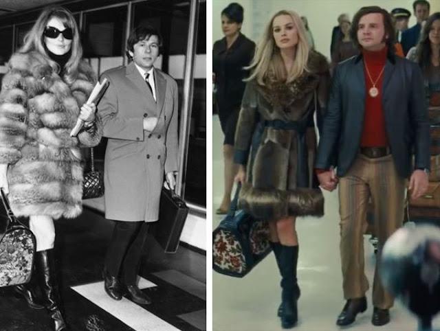 Sharon e Roman Polanski em filme