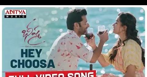 Hey Choosa Lyrics Download Pdf Bheeshma Lyrics Boy