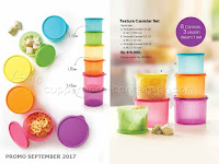 Texture Canister Set Promo Tupperware September 2017