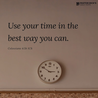 Make Your Time Count by Rick Warren
