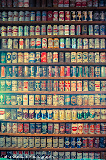 Brewhouse Wall of Beer Cans