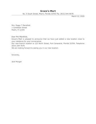 Announcement Letter for Opening New Branch