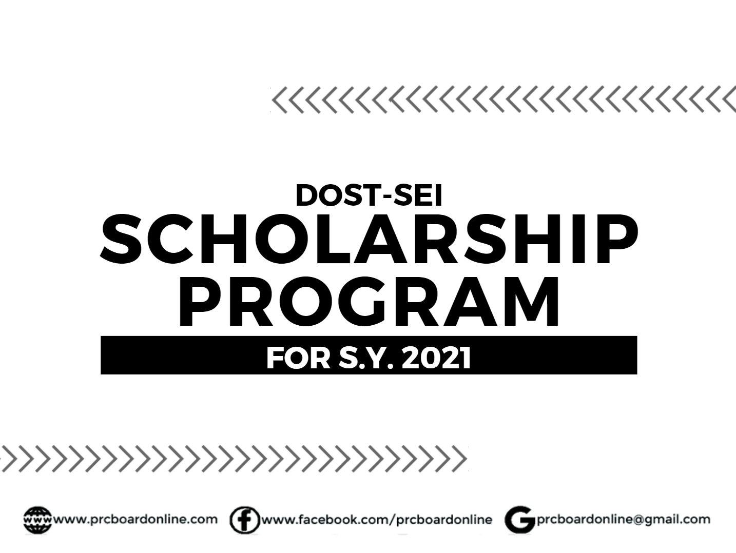 DOST Scholarship for S.Y. 2021: Undergraduate (A.Y. 2020