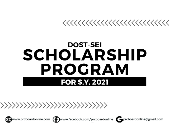 DOST Scholarship for S.Y. 2021: Undergraduate (A.Y. 2020-2021)