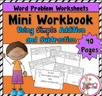 Simple Word Problems in a Mini Workbook