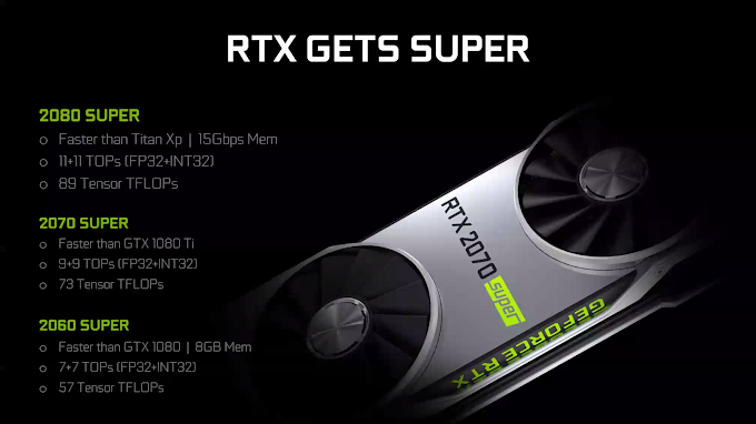 Nvidia RTX Super Lineup Succeeds RTX 2060, RTX 2070, and RTX 2080