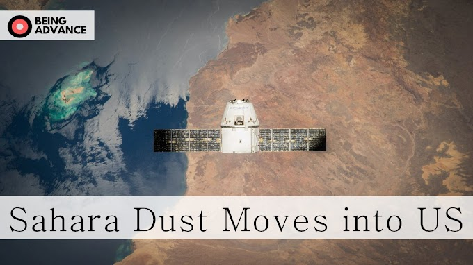 United States Atmosphere covers with dust coming from Sahara Dust storm
