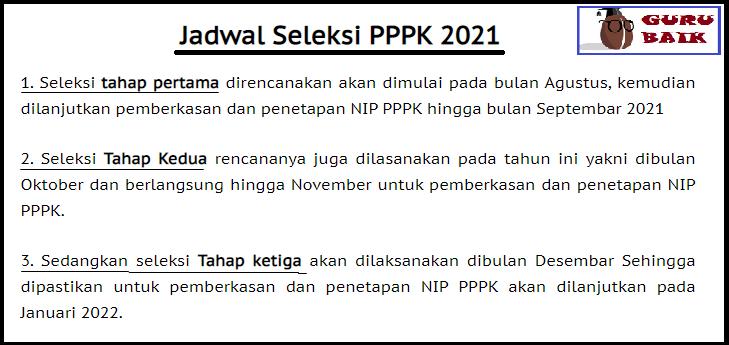 gambar jadwal seleksi PPPK 2021