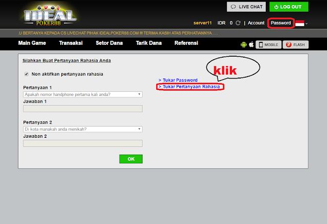 ganti pertanyaan poker online indonesia