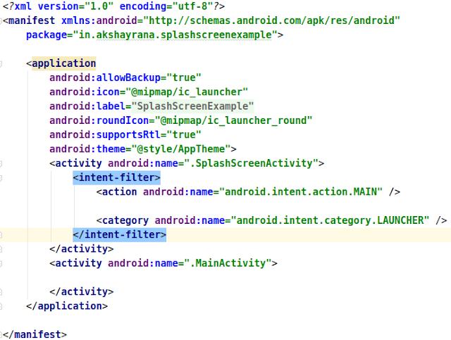 Android Manifest xml