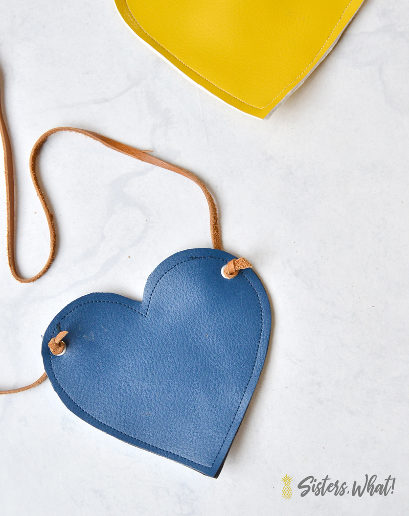 how to make a heart purse