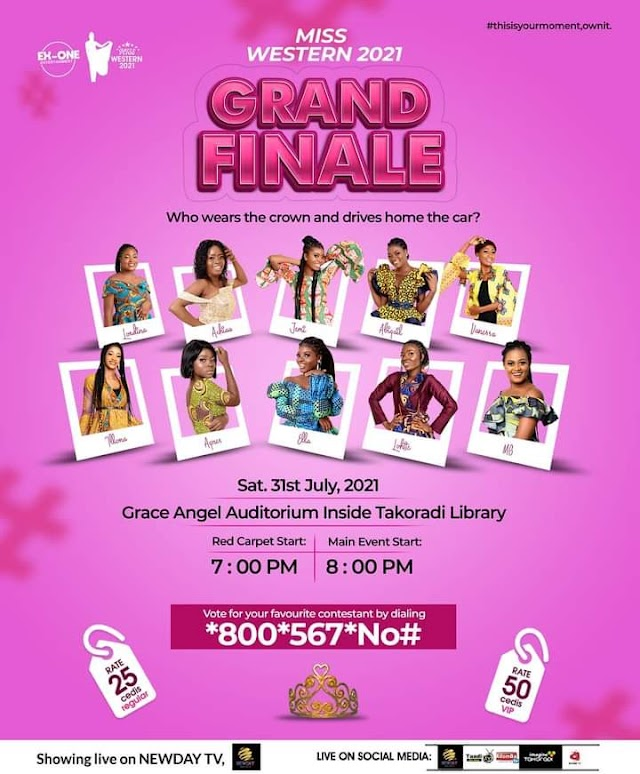 Miss Western 2021 Grand Finale comes off on Saturday July 31 - Who Wins the Crown?