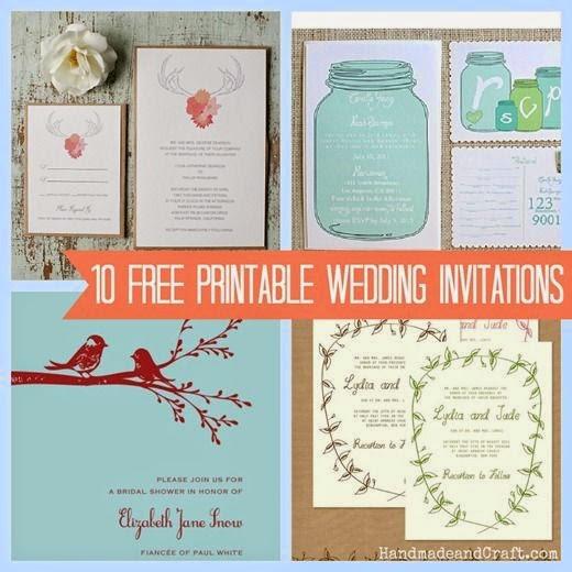Invitaciones imprimibles para bodas