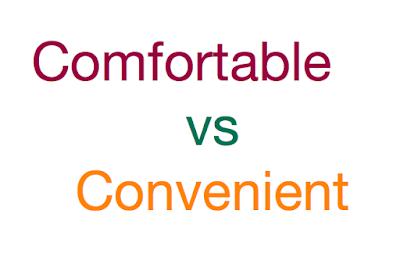 convenient comfortable разница в употреблении
