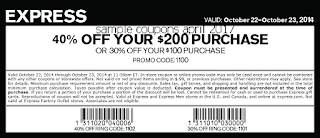 Express coupons april