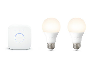 The Philips Hue White A19 60W Smart Light Bulbs Compatible with Alexa