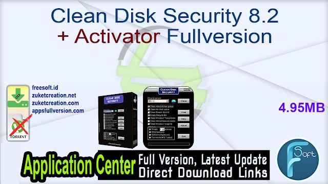 Clean Disk Security 8.2 + Activator Fullversion