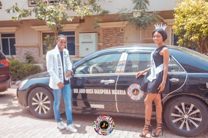 John Mbui Ikpi and Promise Gabari wins Mr and Miss Diaspora Nigeria World 2021