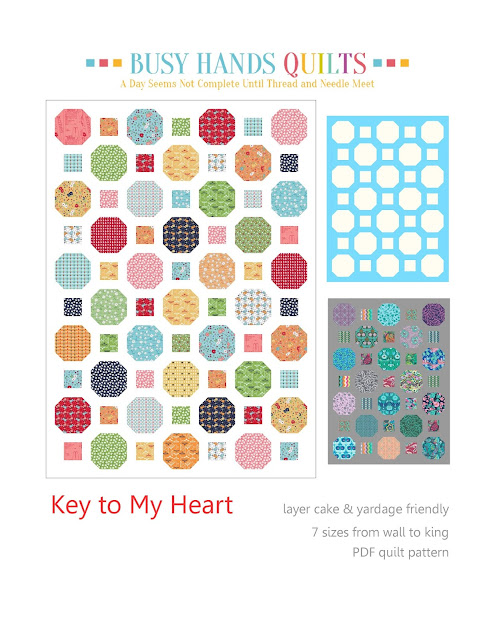 Busy Hands Quilts: Key to My Heart {A New Quilt Pattern!}