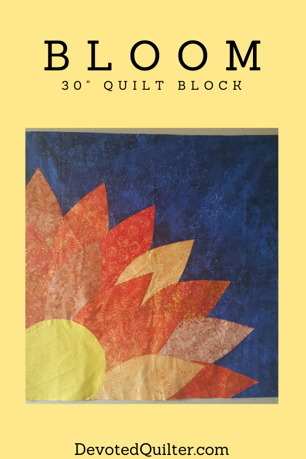 Bloom quilt block | DevotedQuilter.com