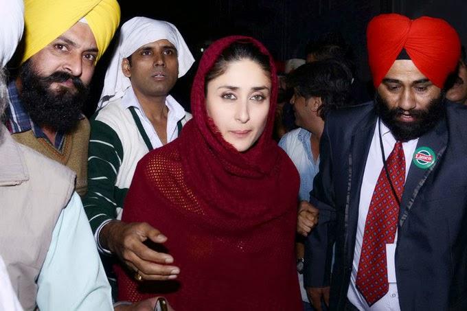 Kareena Kapoor Photos at Golden Temple In Red Dress