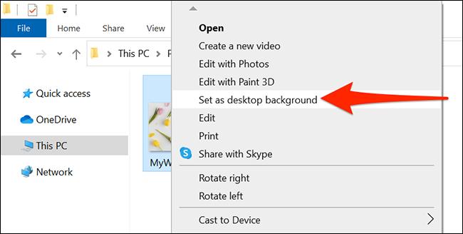 قم بتغيير خلفية سطح المكتب باستخدام File Explorer
