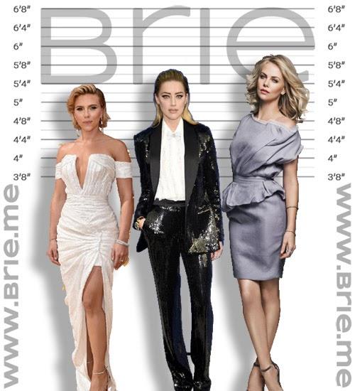 Scarlett Johansson, Amber Heard, Charlize Theron height comparison
