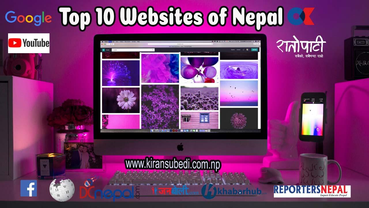 Top 10 Ten Websites in Nepal