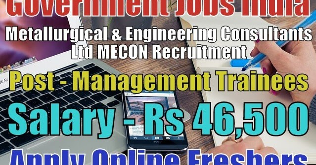 mecon-recruitment-2019-for-trainees  Th P Govt Job Online Form Post Office on