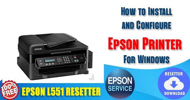 Epson L551 Adjustment Program