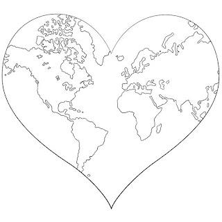 לב ומפה לצביעה