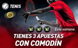 sportium Tenis: 3 Apuestas con Comodín hasta 3-11-2019