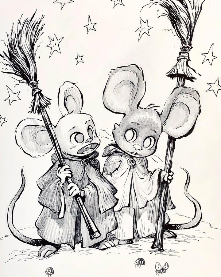 11-Little-mice-witches-MS-Armstrong-www-designstack-co