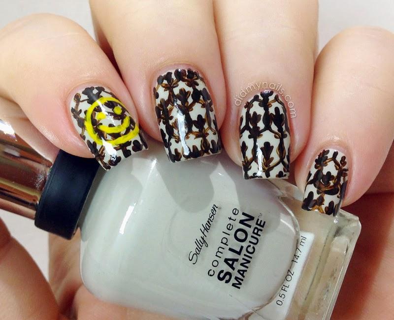 Sherlock smiley wallpaper nail art & Did My Nails: Sherlock Nail Art