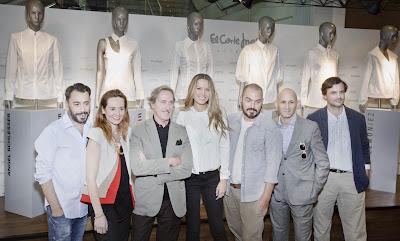 Petra Nemcova apoyada por nueve diseñadores españoles que han  versionado la camisa blanca, en exclusiva para El Corte Inglés