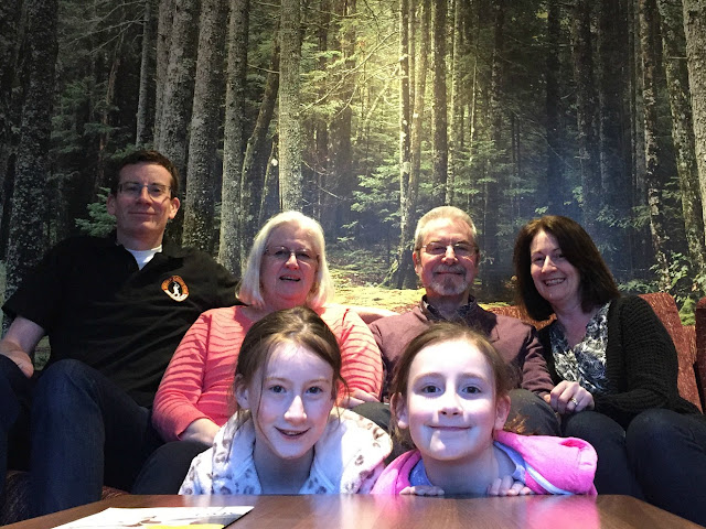 curtis family with stephs parents at center parcs