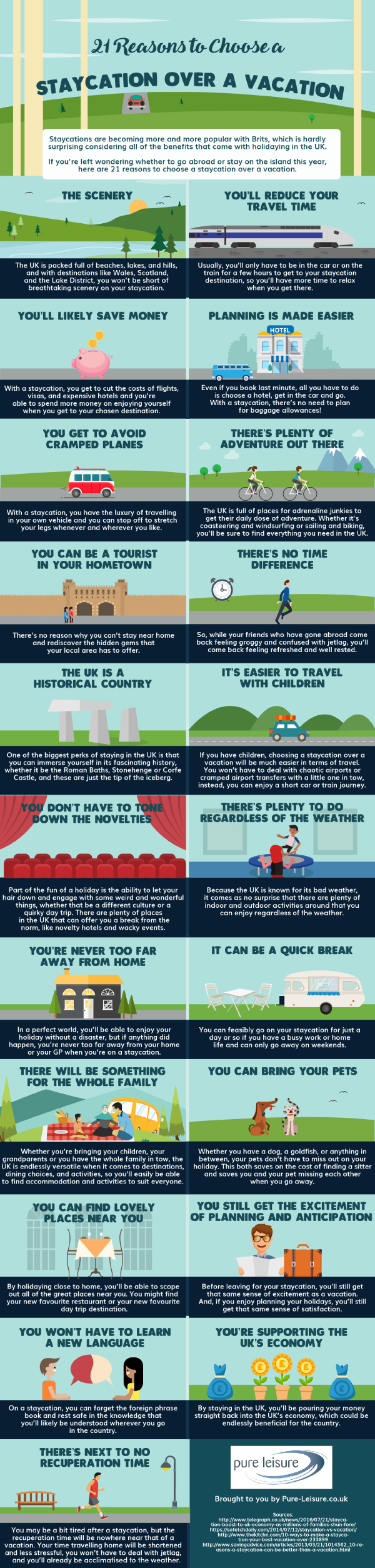21 Reasons To Choose A Staycation Over A Vacation #infographic