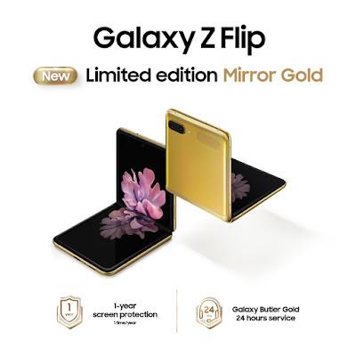 """ครั้งแรกในไทย! ซัมซุงส่ง """"Galaxy Z Flip"""" สีทอง """"Mirror Gold"""" เฉดสีใหม่ ลิมิเต็ดเอดิชัน พร้อมสะกดทุกสายตา ให้คุณเป็นเจ้าของได้แล้ววันนี้"""