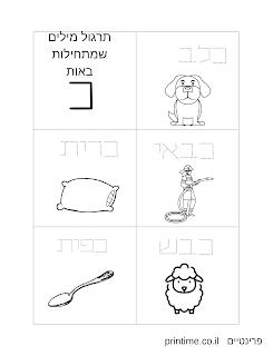 דפי תרגול כתיבה לילדים שלומדים קרוא וכתוב
