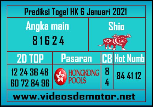 Prediksi HK 6 Januari 2021