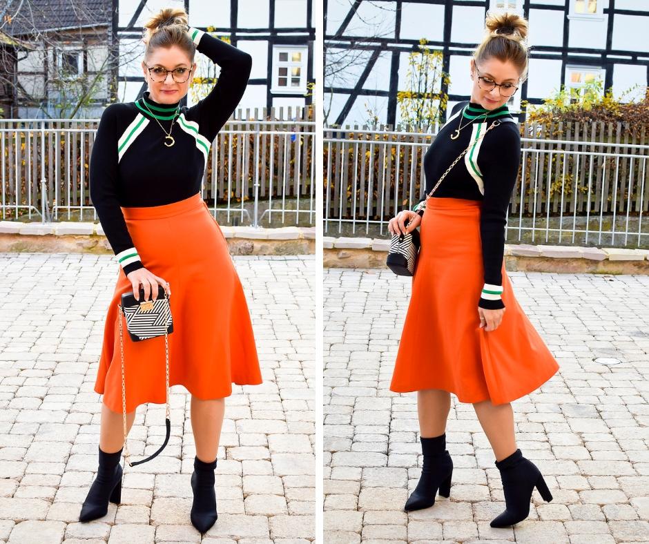 60iger Jahre Look, Outfit wie aus den 60igern, Tipps für Orange