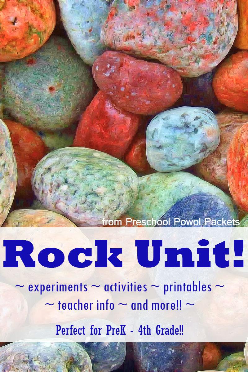Geology Rocks! Unit (\u0026 FREE Printable Packet) - Rock Theme   Preschool  Powol Packets [ 1200 x 800 Pixel ]