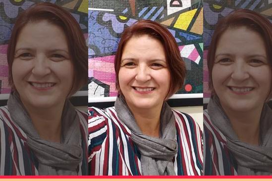 Professora Célia Vilela. Café com Jornalista